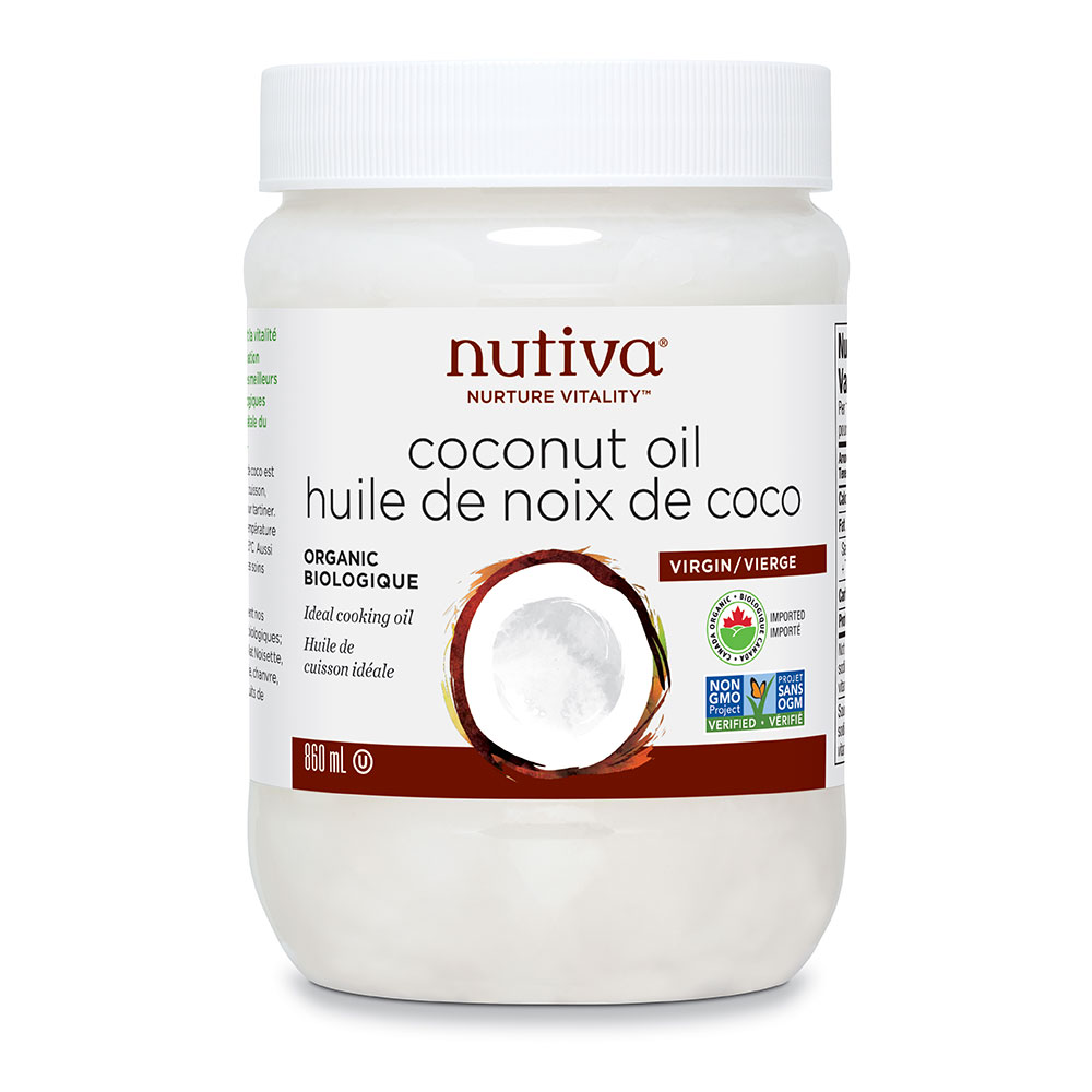 : Nutiva Organic Virgin Coconut Oil, 860ml