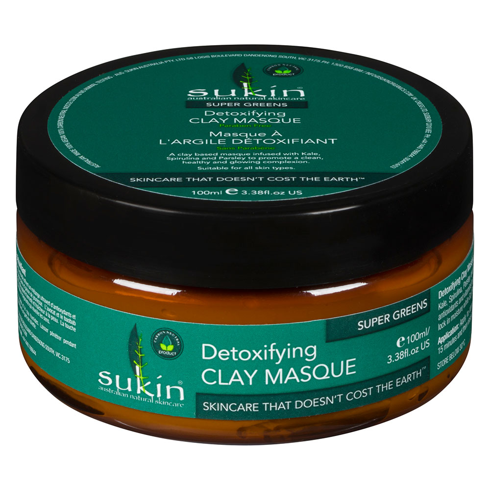 : Sukin Super Greens Detoxifying Clay Mask 100ml